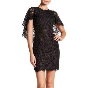 Dress the Population Shelby Cape Sleeve Mini Dress